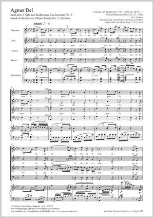 Ludwig Van Beethoven Agnus Dei Noten Chormusik Kaufen