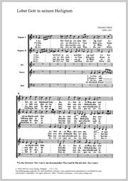 Heinrich Albert: Lobet Gott in seinem Heiligtum