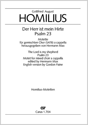 Gottfried August Homilius: The Lord is my shepherd