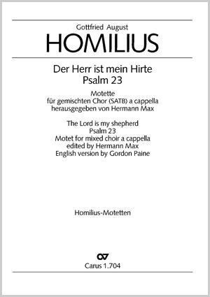 Gottfried August Homilius: Der Herr ist mein Hirte