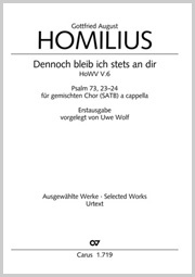 Gottfried August Homilius: Dennoch bleib ich stets an dir