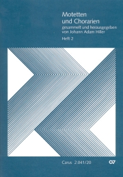 Motets and arias for choirs collected and edited by Johann Adam Hiller, vol. 2