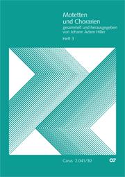 Motetten und Chorarien, Heft 3