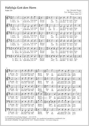 6f18111b93 Alexander Wagner: Halleluja Gott dem Herrn full score | Carus-Verlag