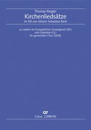 Riegler: Kirchenliedsätze im Stil von Johann Sebastian Bach