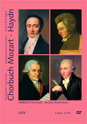 Choral collection Mozart / Haydn, vol. IV. Secular choral music for mixed voices a cappella or with keyboard instrument