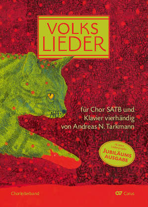 Choral collection Volkslieder for choir SATB and piano duet