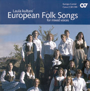 Choral collection European Folksongs (mixed voices)