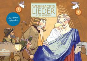 Weihnachtslieder für Kinder. Adventskalender zum Aufstellen