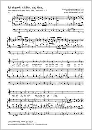 Heinrich von Herzogenberg: Ich singe dir mit Herz und Mund