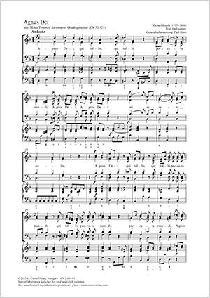 Johann Michael Haydn: Agnus Dei