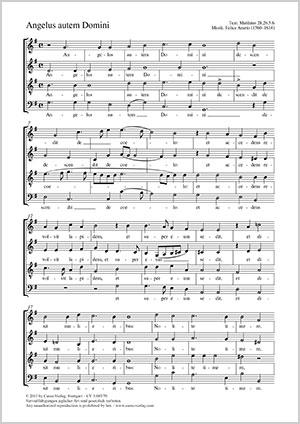 Felice Anerio: Angelus autem Domini
