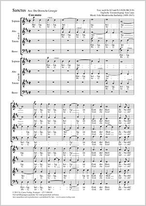 Felix Mendelssohn Bartholdy: Sanctus