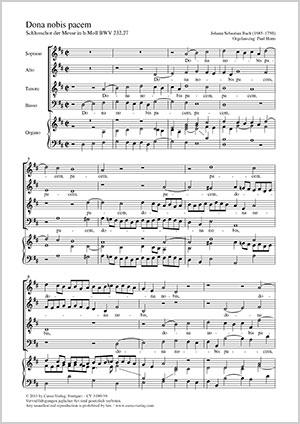 Johann Sebastian Bach: Dona nobis pacem