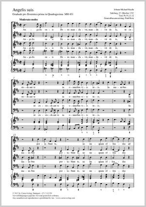Johann Michael Haydn: Angelis suis