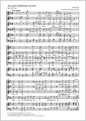 Joseph Haydn: Aus dem Dankliede zu Gott