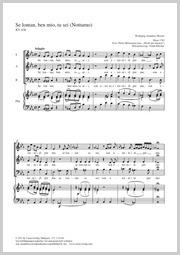 Wolfgang Amadeus Mozart: Se lontan, ben mio, tu sei
