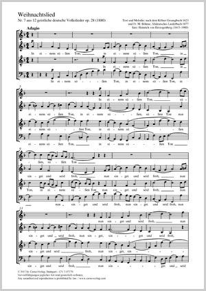 Weihnachtslieder Partitur.Heinrich Von Herzogenberg Weihnachtslied Partitur Einzelausgabe