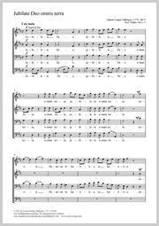 Johann Caspar Aiblinger: Jubilate Deo omnis terra / Jauchzet dem Herrn, alle Welt!