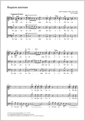 Peter Cornelius: Requiem aeternam