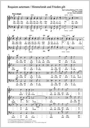 Karl Ludwig Hellwig: Requiem aeternam / Himmelsruh und Frieden gib