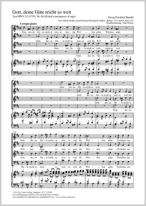 Georg Friedrich Händel: Gott, deine Güte reicht so weit