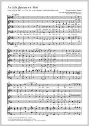 Georg Friedrich Händel: An dich glauben wir