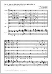 Georg Friedrich Händel: Dich, unser Gott, den Einzigen rufen wir an