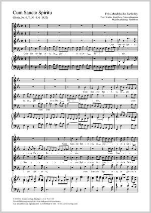 Felix Mendelssohn Bartholdy: Cum Sancto Spiritu