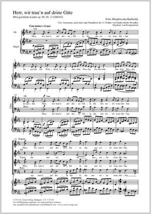 Felix Mendelssohn Bartholdy: Herr, wir trau'n auf deine Güte