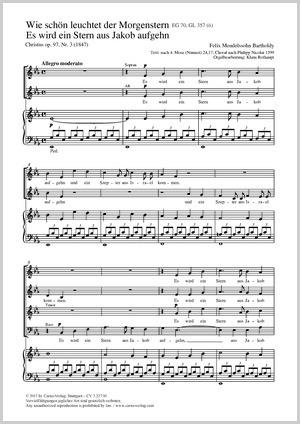 Felix Mendelssohn Bartholdy: Es wird ein Stern aus Jakob aufgehn
