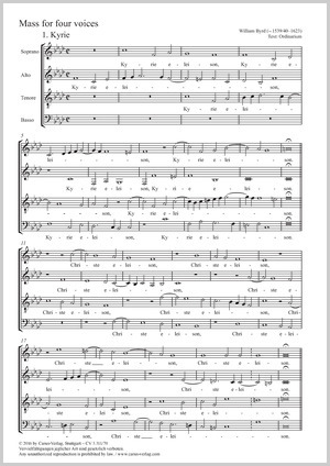 William Byrd: Mass for four voices