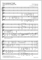 Claudio Monteverdi: Ecco Mormorar l'onda