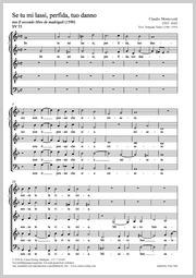 Claudio Monteverdi: Se tu mi lassi, perfida, tuo danno