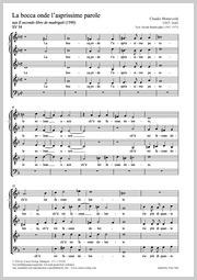 Claudio Monteverdi: La bocca onde l'asprissime parole