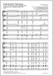 Claudio Monteverdi: Cruda Amarilli / Felle amaro