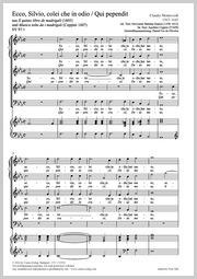 Claudio Monteverdi: Ecco, Silvio / Qui pependit