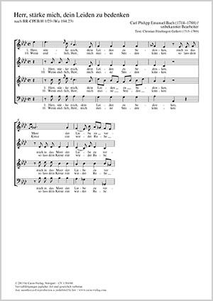 Carl Philipp Emanuel Bach: Herr, stärke mich, dein Leiden zu bedenken