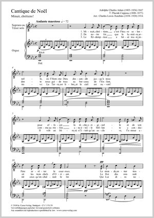 Adolphe Adam: Cantique de Noël