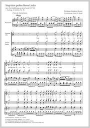 Wolfgang Amadeus Mozart: Singt dem großen Bassa Lieder