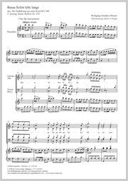 Wolfgang Amadeus Mozart: Bassa Selim lebe lange