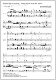 Wolfgang Amadeus Mozart: Giovani lieti fiori spargete