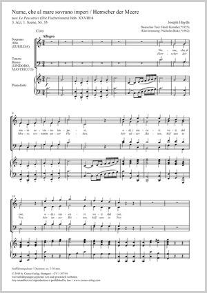 Joseph Haydn: Nume, che al mare sovrano imperi
