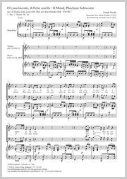 Joseph Haydn: O Luna lucente, di Febo sorella / O Mond, Phoebens Schwester