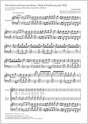 Joseph Haydn: Più la belva nel bosco non freme