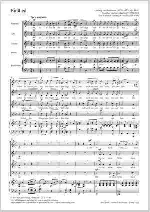 Ludwig van Beethoven: Chant de pénitence