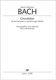 Bach: Choralsätze 2, 20 Kirchenlieder in vierstimmigen Sätzen