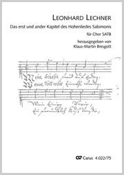 Leonhard Lechner: Das erst und ander Kapitel des Hohenliedes Salomonis