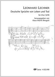 Leonhard Lechner: Deutsche Sprüche von Leben und Tod