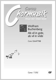 Wolfram Buchenberg: Als vil in gote, als vil in vride